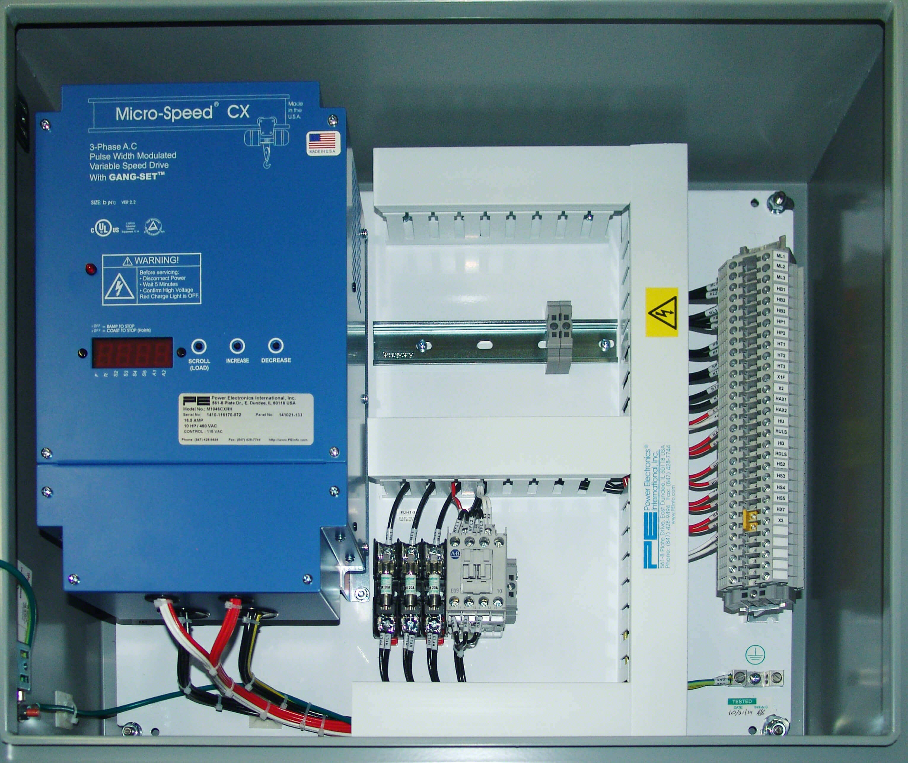 Hoist control panels (Power Elec.)