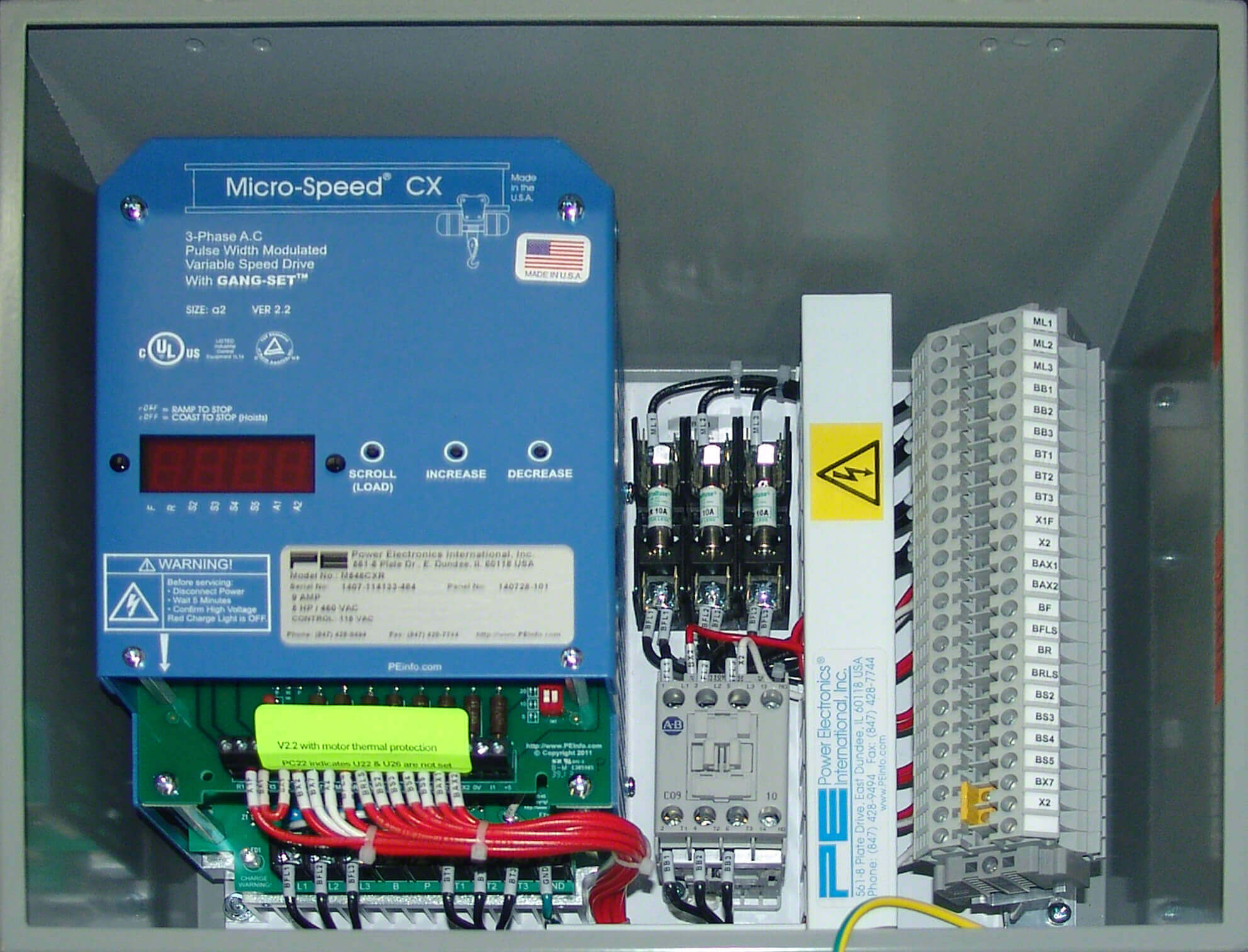 Standard Travel Motion Control Panels (Power Elec.)
